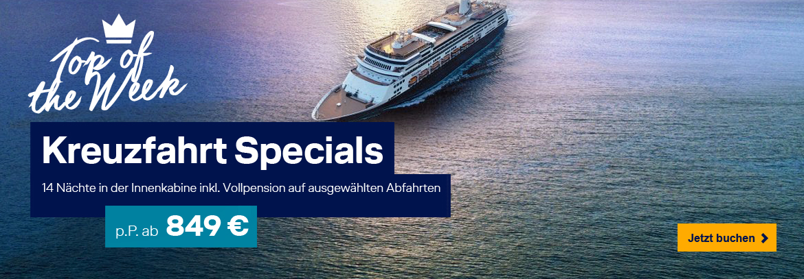 Exotik Flash-Deals von Holland America Lines